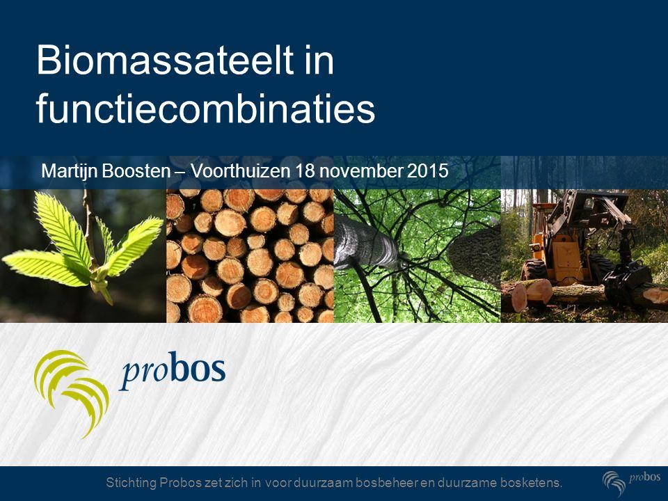 Stichting Probos zet zich in voor duurzaam bosbeheer en duurzame bosketens. Biomassateelt in functiecombinaties Martijn Boosten – Voorthuizen 18 novem