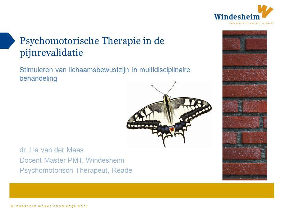 Windesheim makes knowledge work Psychomotorische Therapie in de pijnrevalidatie Stimuleren van lichaamsbewustzijn in multidisciplinaire behandeling dr.