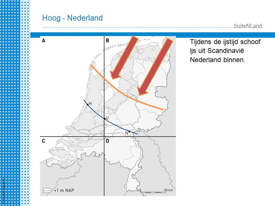 Hoog - Nederland Tot welke denkbeeldige lijn kwam het ijs in Nederland.