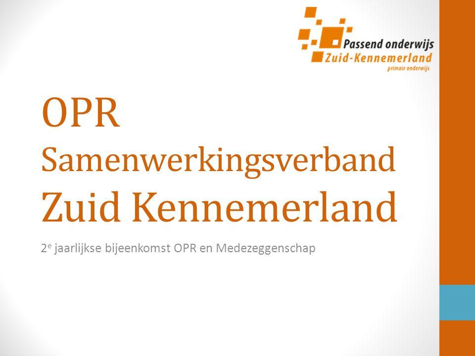 OPR Samenwerkingsverband Zuid Kennemerland 2 e jaarlijkse bijeenkomst OPR en Medezeggenschap