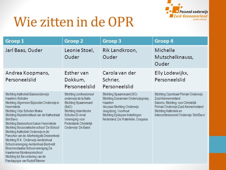 OPR, Sterker Passend Ouderfolder Ondersteuningsplan.