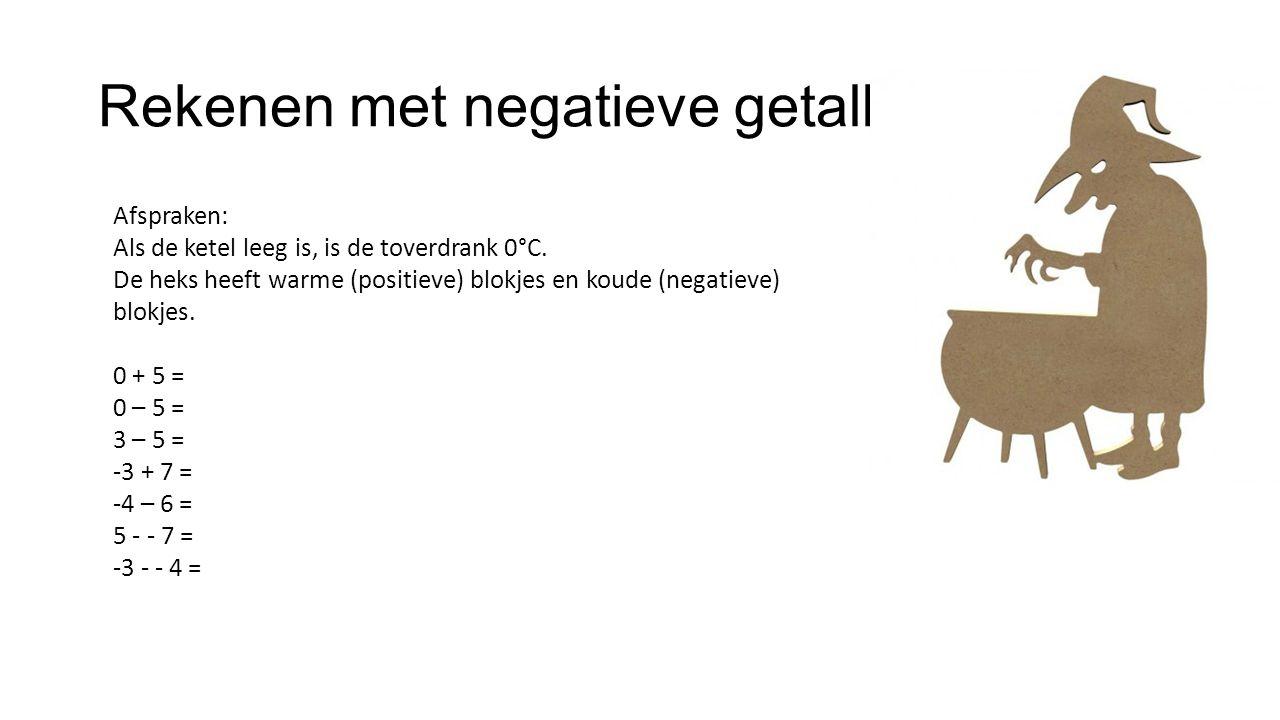 Rekenen met negatieve getallen Afspraken: Als de ketel leeg is, is de toverdrank 0°C.