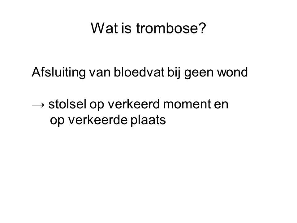 Hemostase : stolling 1.Vasoconstrictie a.g.v.