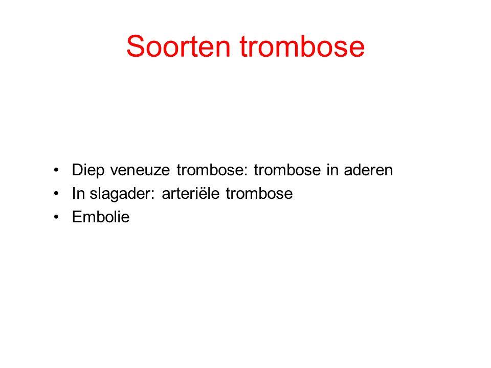 Kenmerken:  Zwelling van been  Been warm, rood-paars van kleur  Pijnlijk been, problemen met lopen Trombose door stolsel in ader in het been