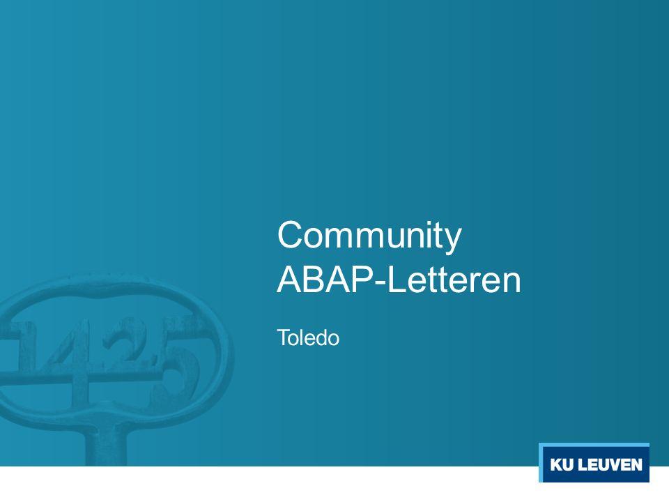 Community ABAP-Letteren Toledo