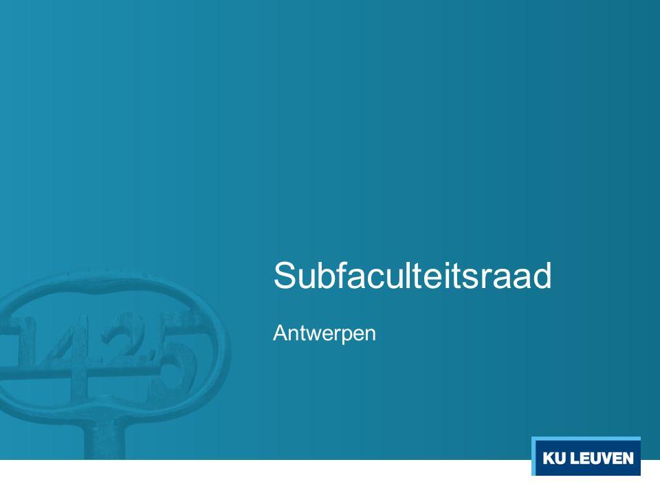 Subfaculteitsraad Antwerpen