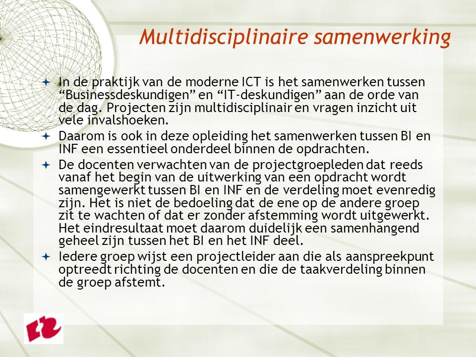 Multidisciplinaire samenwerking  In de praktijk van de moderne ICT is het samenwerken tussen Businessdeskundigen en IT-deskundigen aan de orde van de dag.