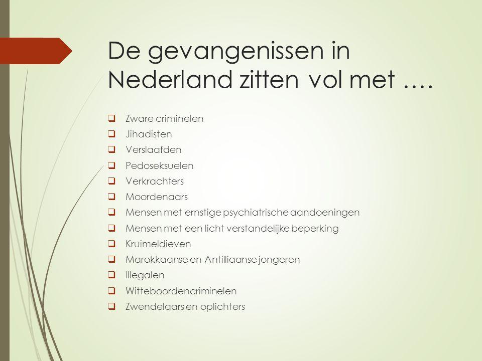 De gevangenissen in Nederland zitten vol met ….