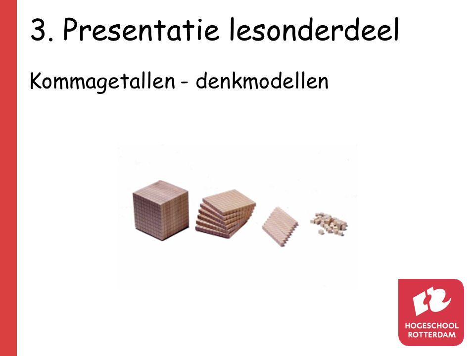 3. Presentatie lesonderdeel Kommagetallen - denkmodellen
