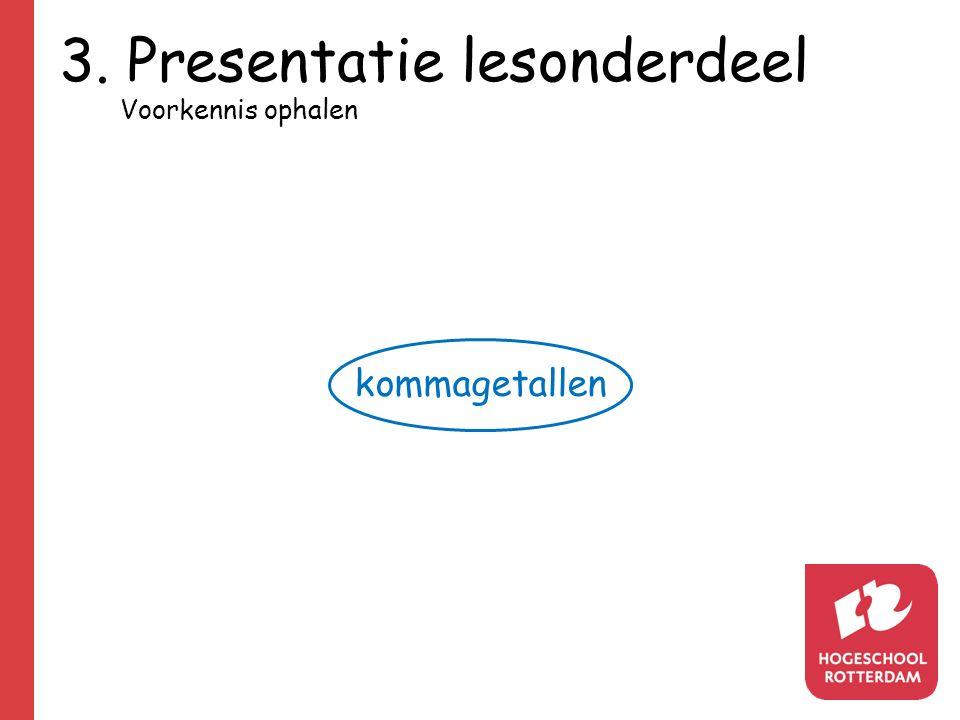 3. Presentatie lesonderdeel kommagetallen Voorkennis ophalen