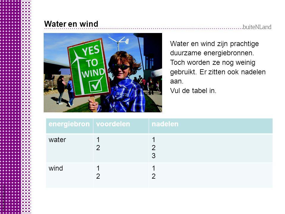 Water en wind energiebronvoordelennadelen water1212 123123 wind1212 1212 Water en wind zijn prachtige duurzame energiebronnen.