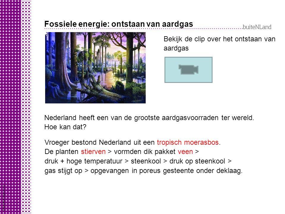 Fossiele energie: ontstaan van aardgas Nederland heeft een van de grootste aardgasvoorraden ter wereld.