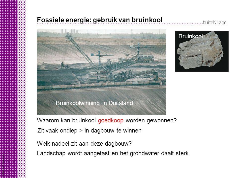 Fossiele energie: gebruik van bruinkool Waarom kan bruinkool goedkoop worden gewonnen.