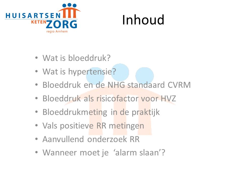 Inhoud Wat is bloeddruk.Wat is hypertensie.