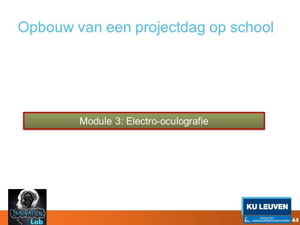 Opbouw van een projectdag op school Module 3: Electro-oculografie 44