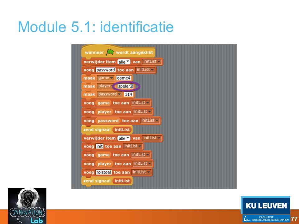 Module 5.1: identificatie 77