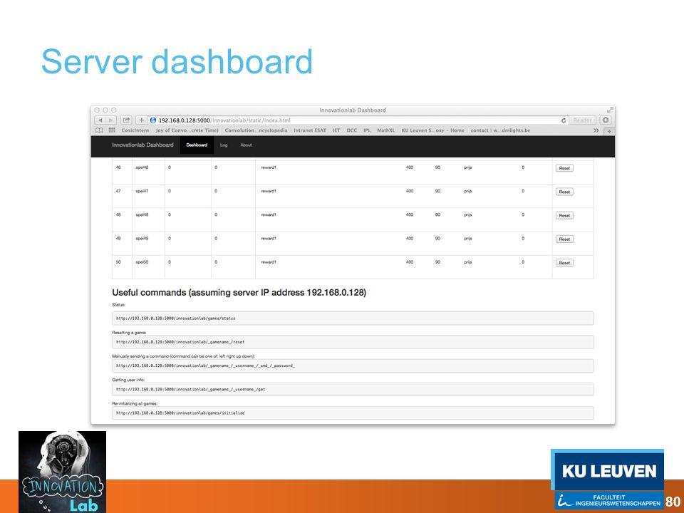Server dashboard 80