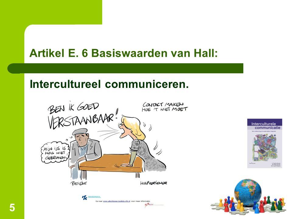 Artikel E. 6 Basiswaarden van Hall: Intercultureel communiceren. 5