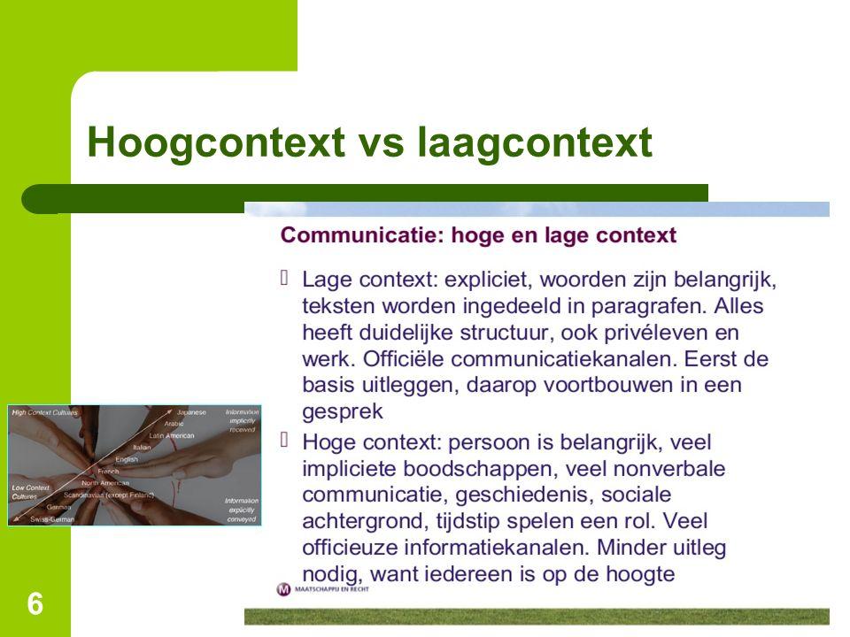 Hoogcontext vs laagcontext 6