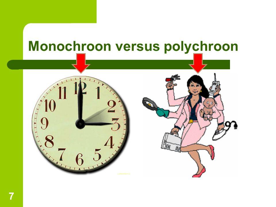 Monochroon versus polychroon 7