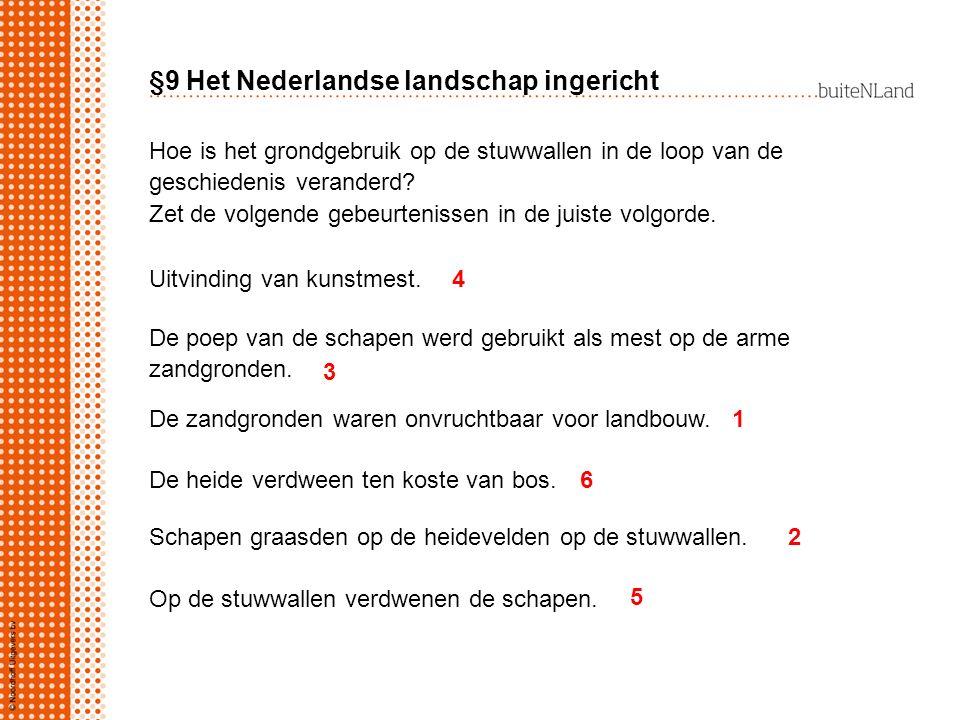 §9 Het Nederlandse landschap ingericht Hoe is het grondgebruik op de stuwwallen in de loop van de geschiedenis veranderd? Zet de volgende gebeurteniss