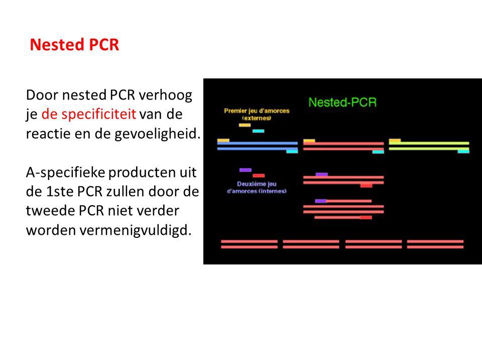 Multiplex PCR Multiplex PCR is een PCR waarbij meerdere primersets tegelijk worden gebruikt om meerdere DNA sequenties tegelijk specifiek te produceren.