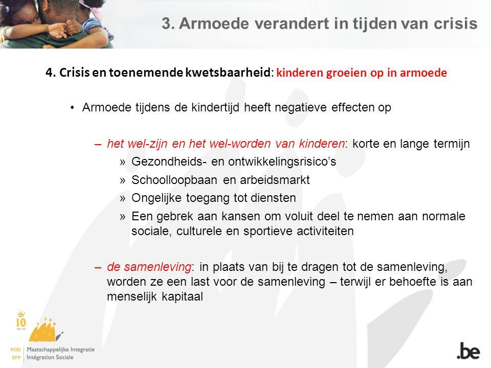 3. Armoede verandert in tijden van crisis 4.