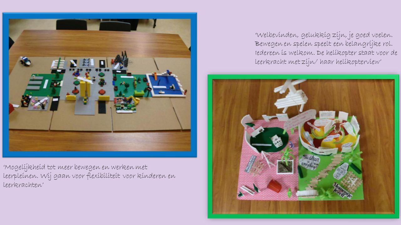 'Mogelijkheid tot meer bewegen en werken met leerpleinen.