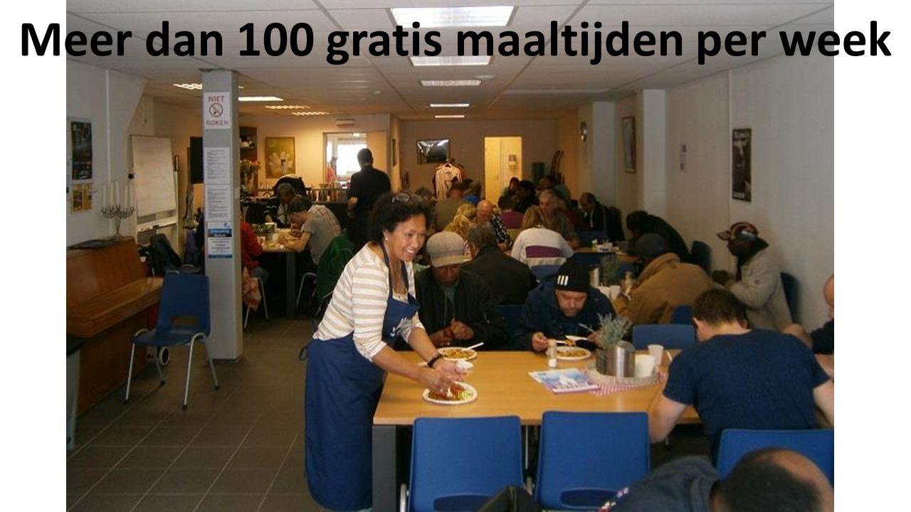 Meer dan 100 gratis maaltijden per week