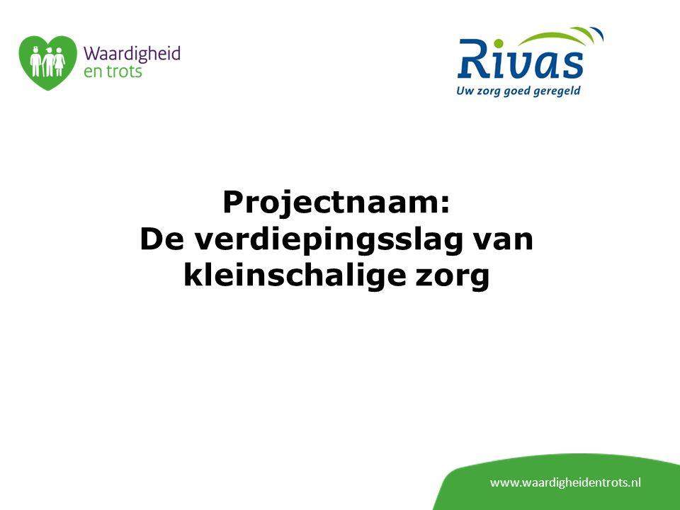 My Vox www.waardigheidentrots.nl Digitaal platform Doel kennisdeling/kennis beschikbaar stellen aan de sector Best practices delen met andere organisaties en met de sector