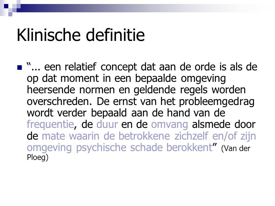 Klinische definitie ...