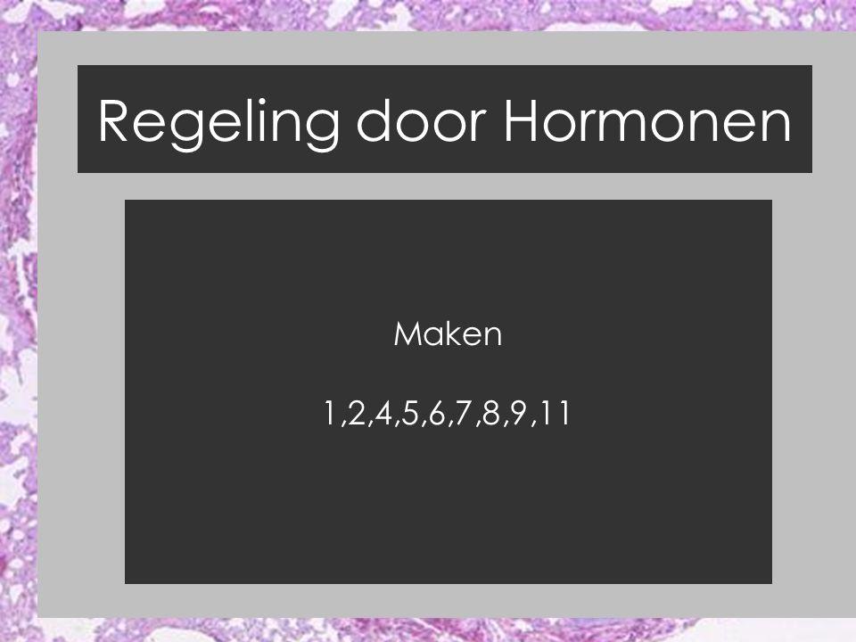 Regeling door Hormonen Maken 1,2,4,5,6,7,8,9,11