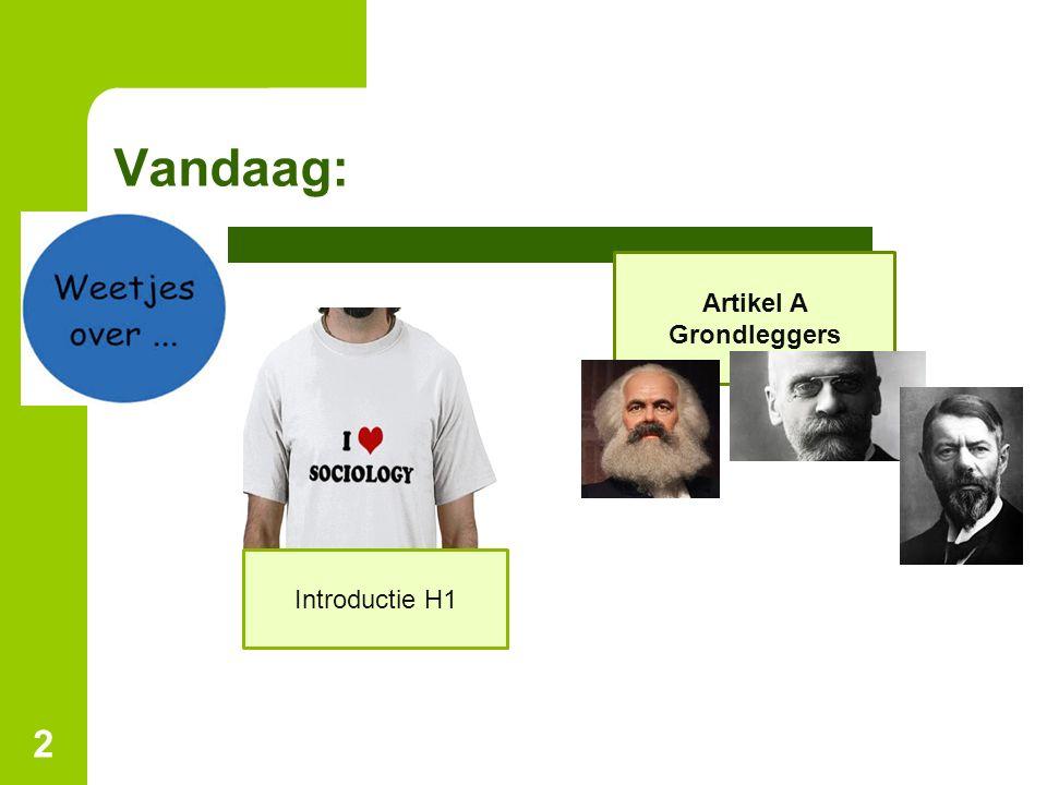 Sociologische verbeeldingskracht Sociologische verbeeldingskracht: Dit gebruik je om de koppeling te leggen tussen je eigen handelen en maatschappelijke 'logica' 13