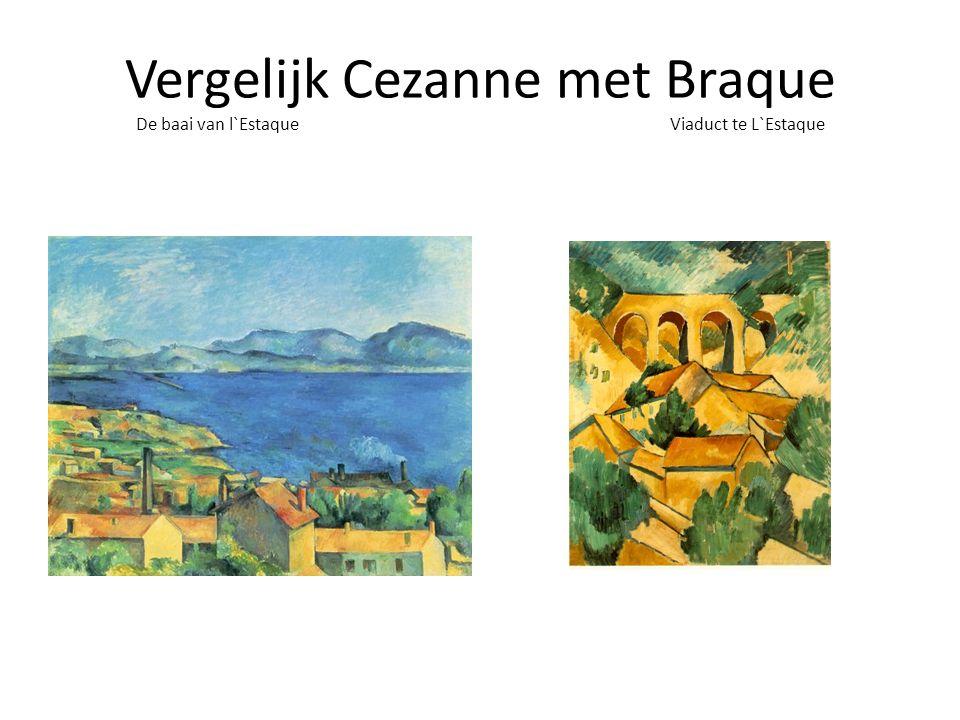 Vergelijk Cezanne met Braque De baai van l`Estaque Viaduct te L`Estaque