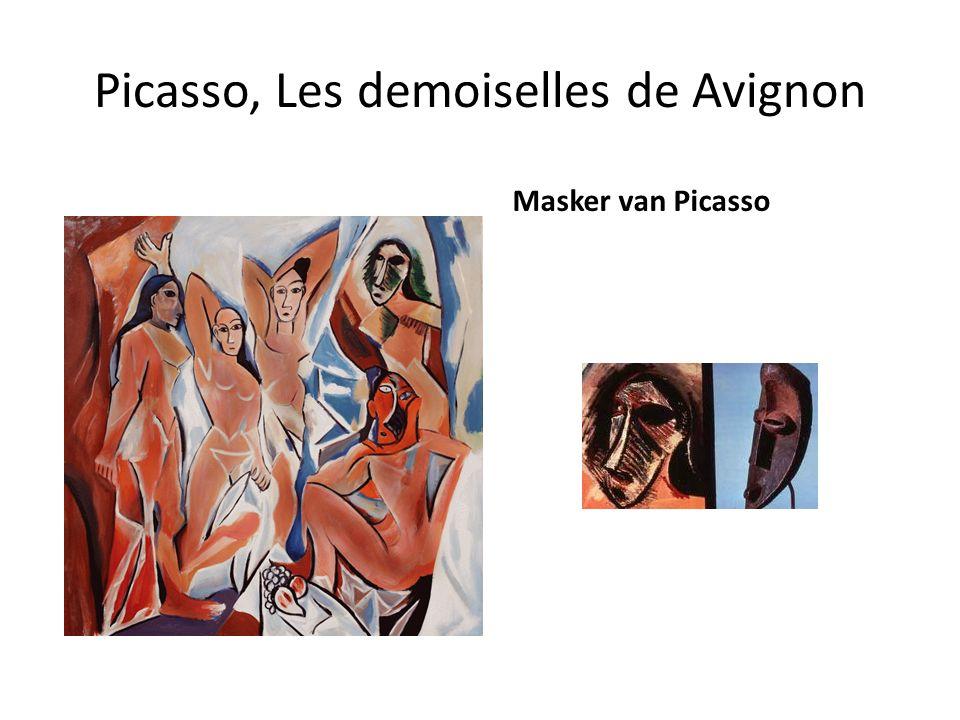 Picasso, Les demoiselles de Avignon Masker van Picasso
