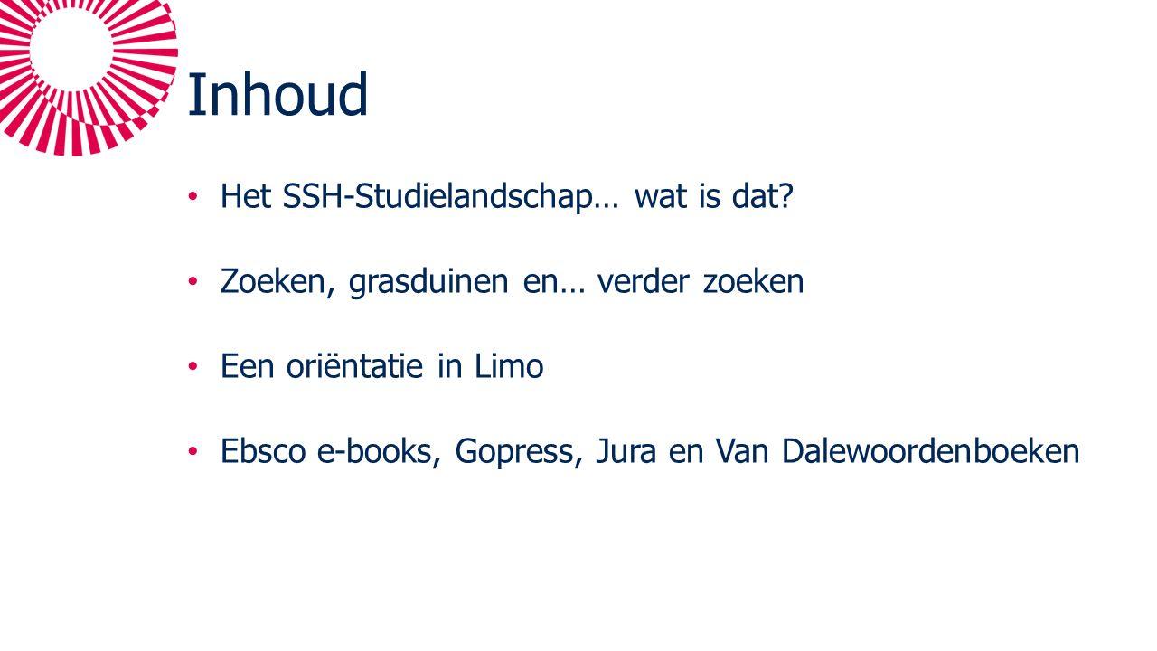 Inhoud Het SSH-Studielandschap… wat is dat.