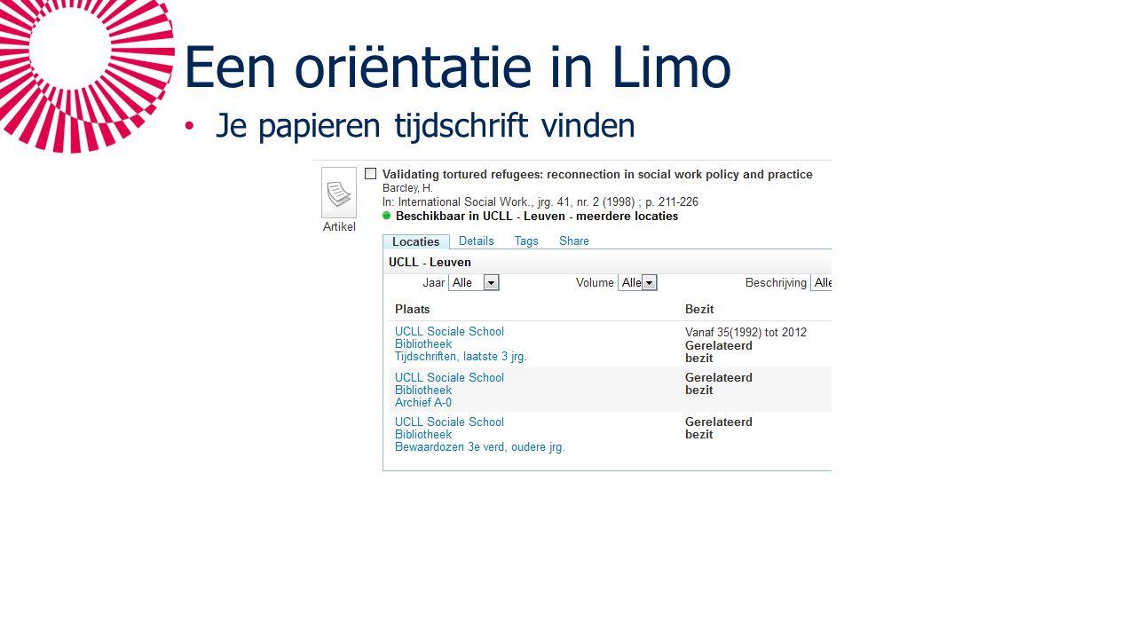 Een oriëntatie in Limo Je papieren tijdschrift vinden