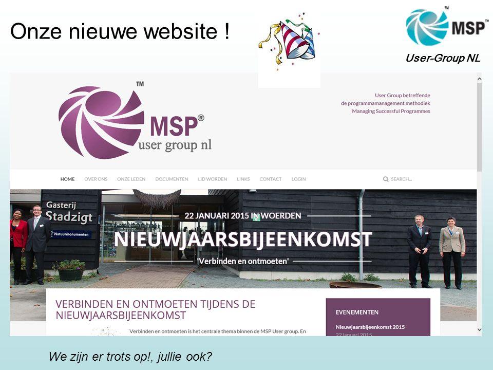 User-Group NL Onze nieuwe website ! We zijn er trots op!, jullie ook?