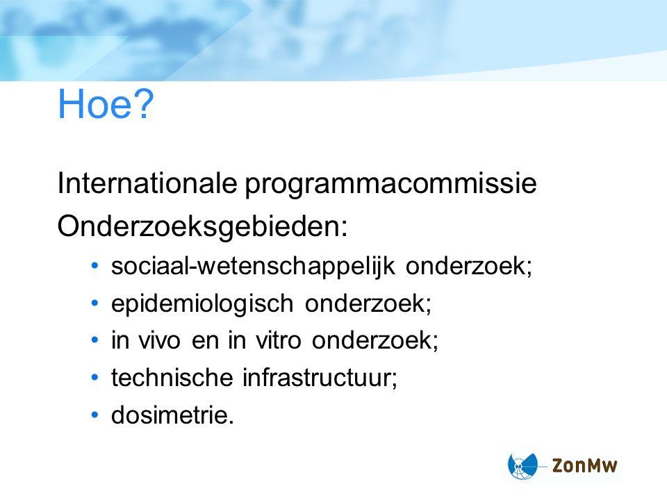 Feiten: Start in augustus 2006 Looptijd 8 jaar Budget 16.6 M euro Eerste ronde: 27-28 maart 2007 Tweede ronde: 12-13 februari 2008 Uiterste datum voor indiening 28 sept.