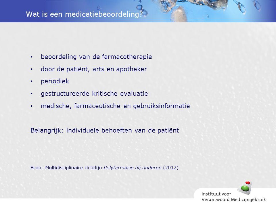 Wat is een medicatiebeoordeling.