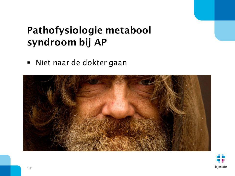 Pathofysiologie metabool syndroom bij AP  Niet naar de dokter gaan 17