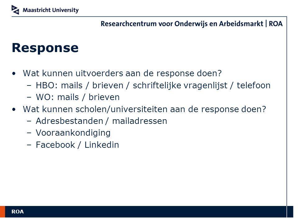 ROA Oud versus Nieuw Positief wat '% werkend' betreft!.