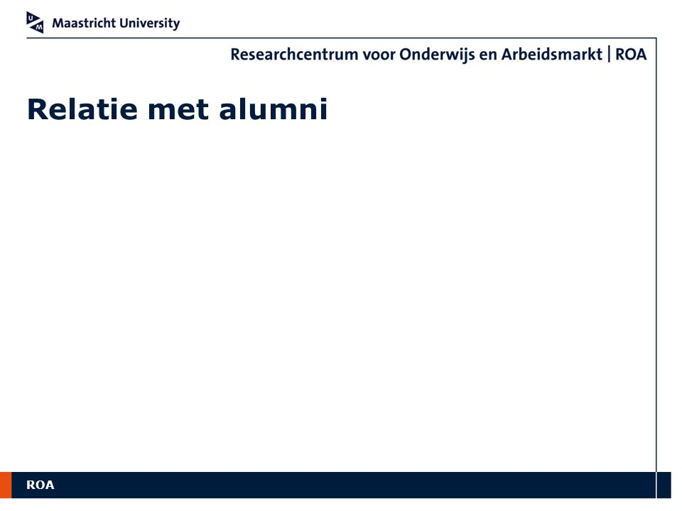 ROA Relatie met alumni