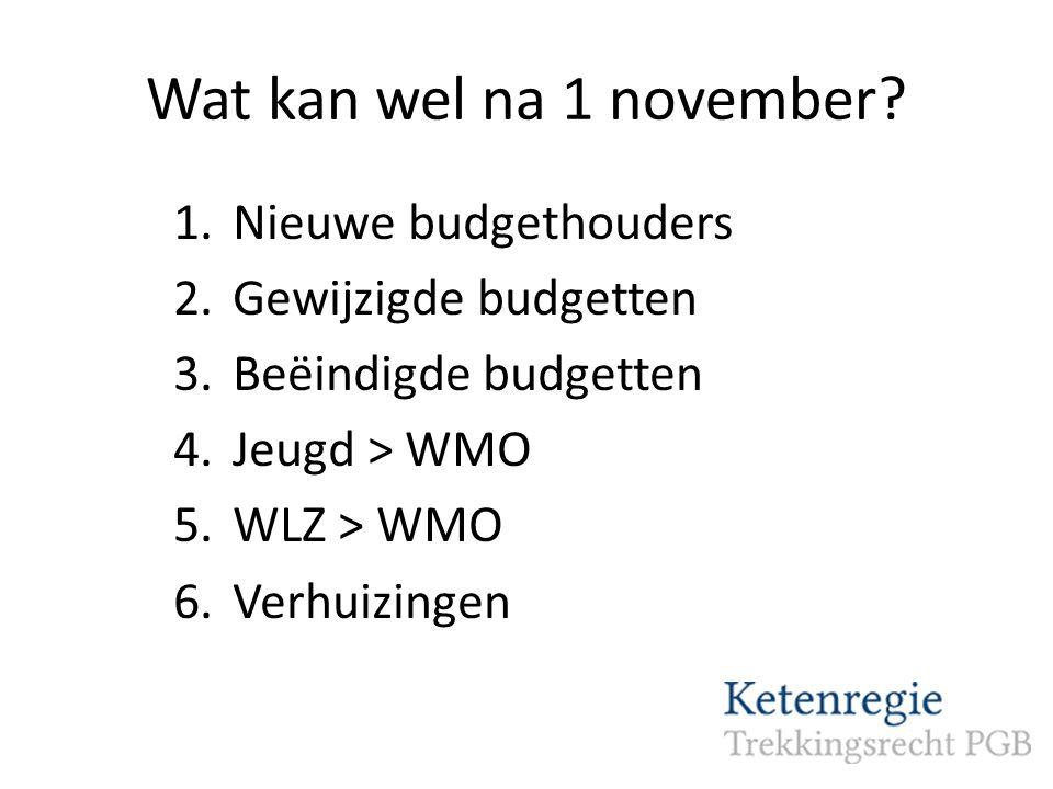 Wat kan wel na 1 november.