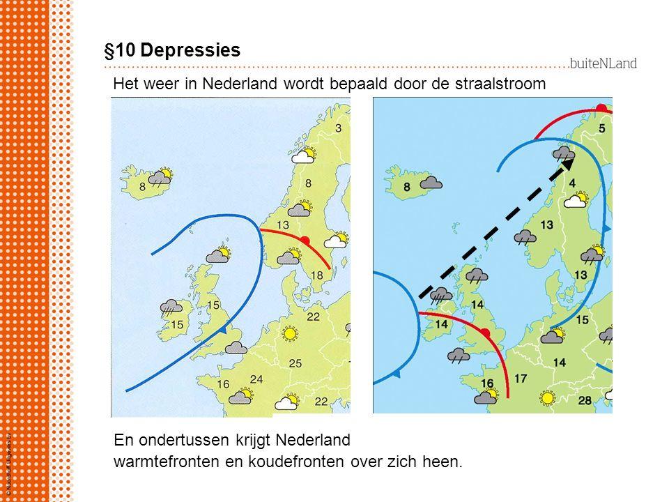 Het weer in Nederland wordt bepaald door de straalstroom Lagedrukgebieden verplaatsen zich… En ondertussen krijgt Nederland warmtefronten en koudefron