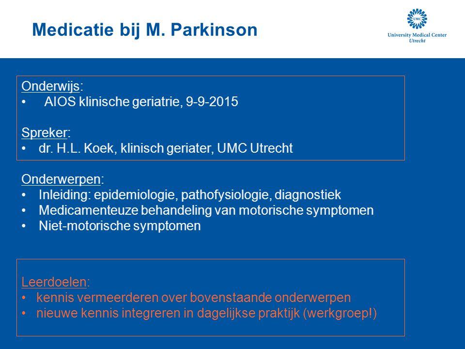Inleiding Vraag: Wie kan iets vertellen over de ontdekking van M. Parkinson?