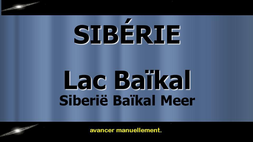 SIBÉRIE Lac Baïkal avancer manuellement. Siberië Baïkal Meer