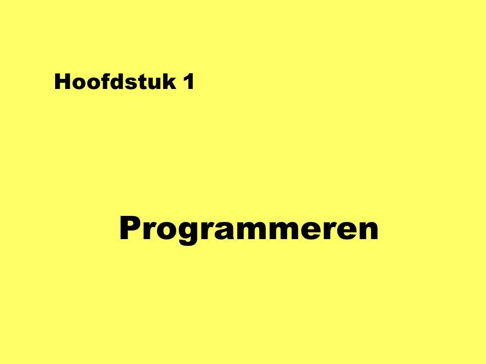 Console-applicatie using System; class Hallo2 { static void Main ( ) { string naam; Console.WriteLine( Wat is je naam? ); naam = Console.ReadLine( ); Console.WriteLine( Hallo, + naam + ! ); Console.WriteLine( met + naam.Length + letters. ); Console.ReadLine( ); }