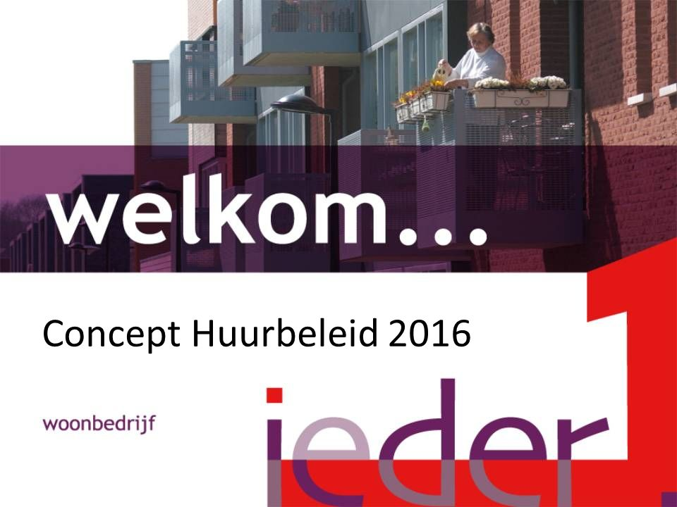 Concept Huurbeleid 2016