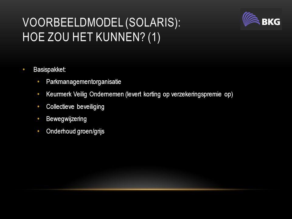 VOORBEELDMODEL (SOLARIS): HOE ZOU HET KUNNEN.